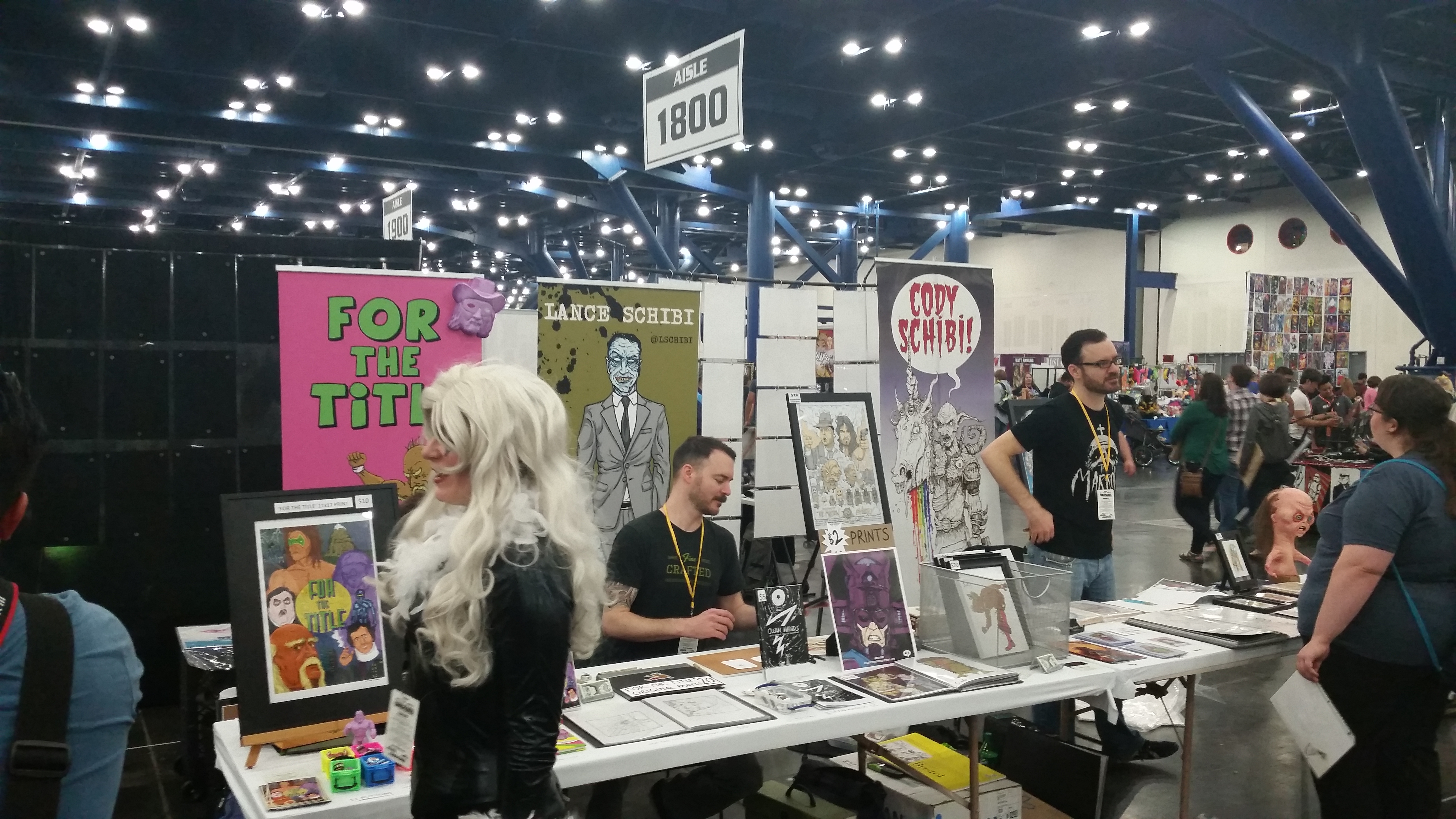 Lance and Cody Schibi had some great art and books for sale
