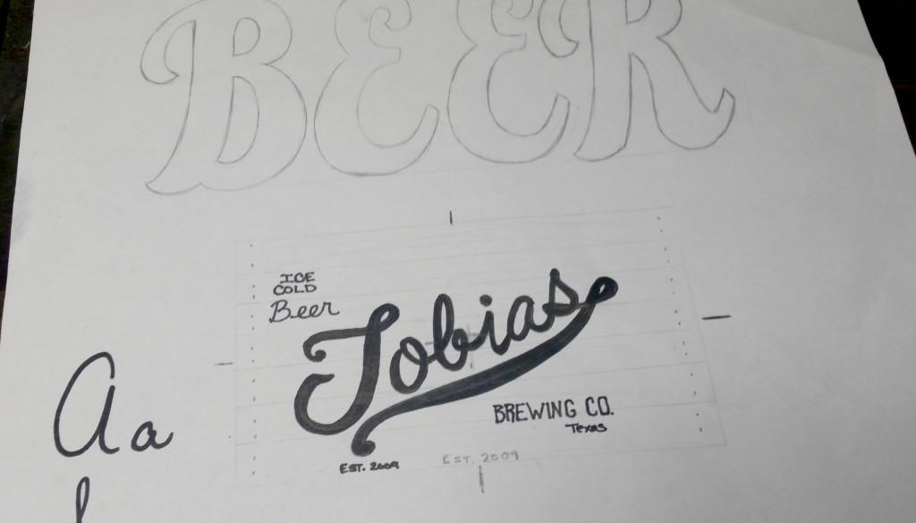 pub-style logo design sketch