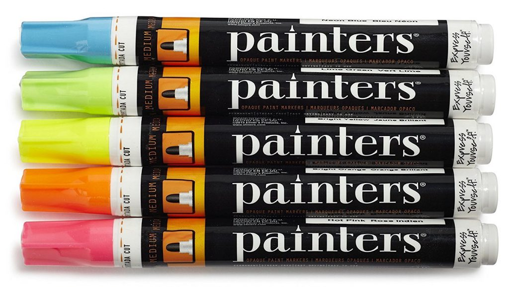 Painters Neon Paint Pens, set of five