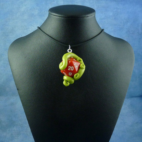 D20 tentacle pendant by Sheryl Westleigh