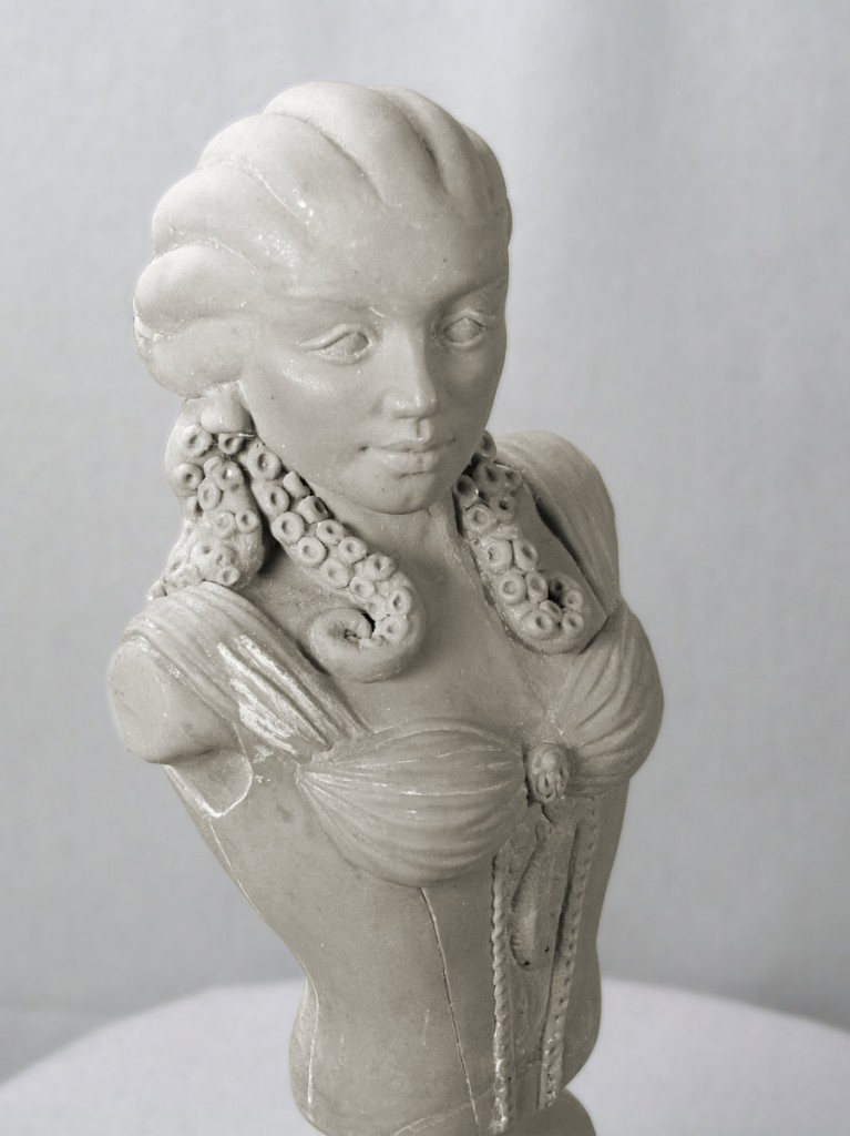 elegant bust of a woman with tentacles for hair by Sheryl Westleigh