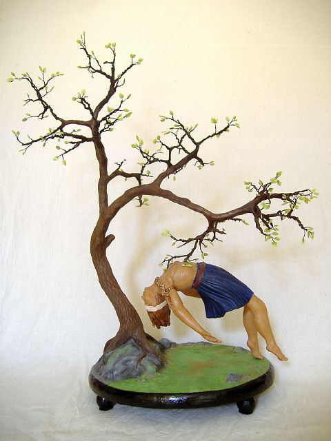 occult sculpture of Odin by Sheryl Westleigh