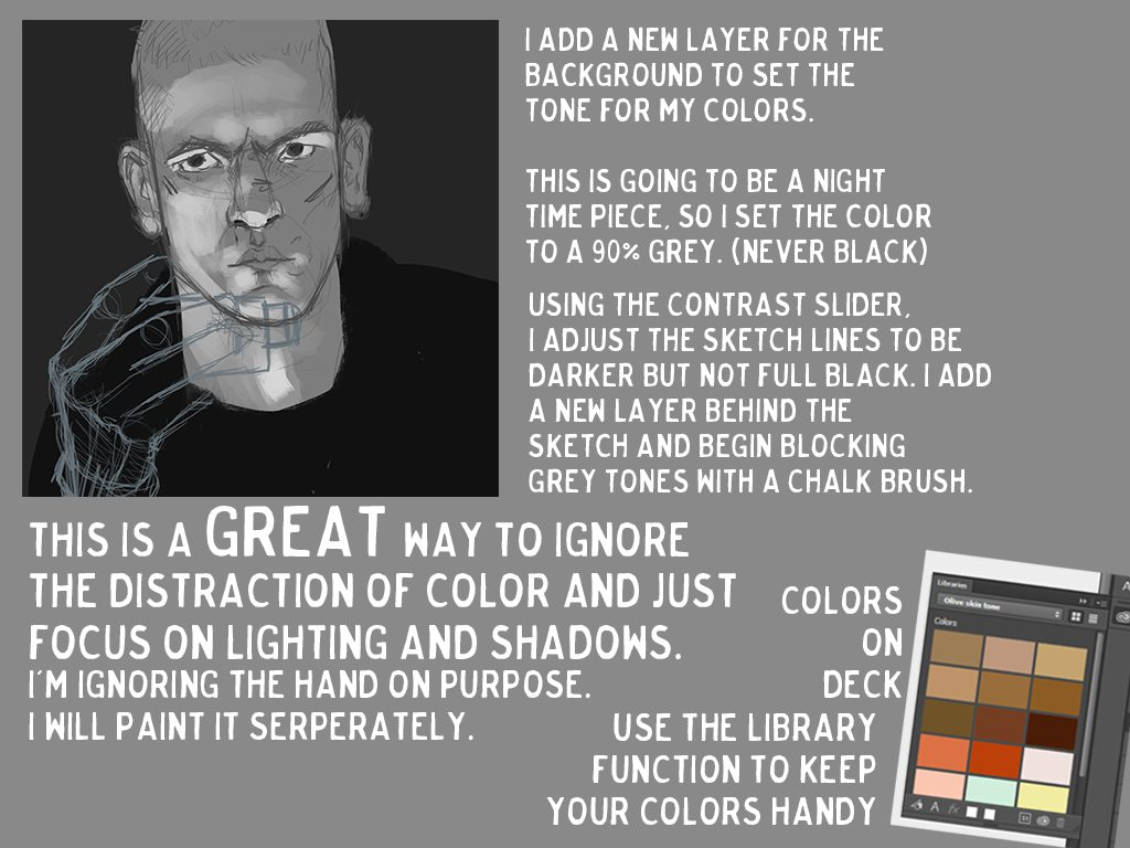 You can find a handy skin tone guide at http://www.deviantart.com/art/SKIN-a-chart-SUPPLEMENT-IMG-145160154