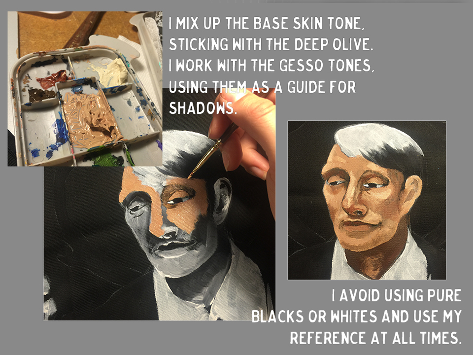 time to paint Hannibal Lecter's skin tone on the apron