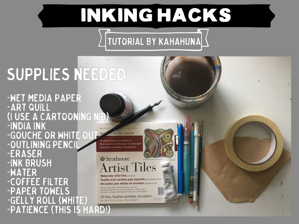 ink hacks: learn how to work with wet ink