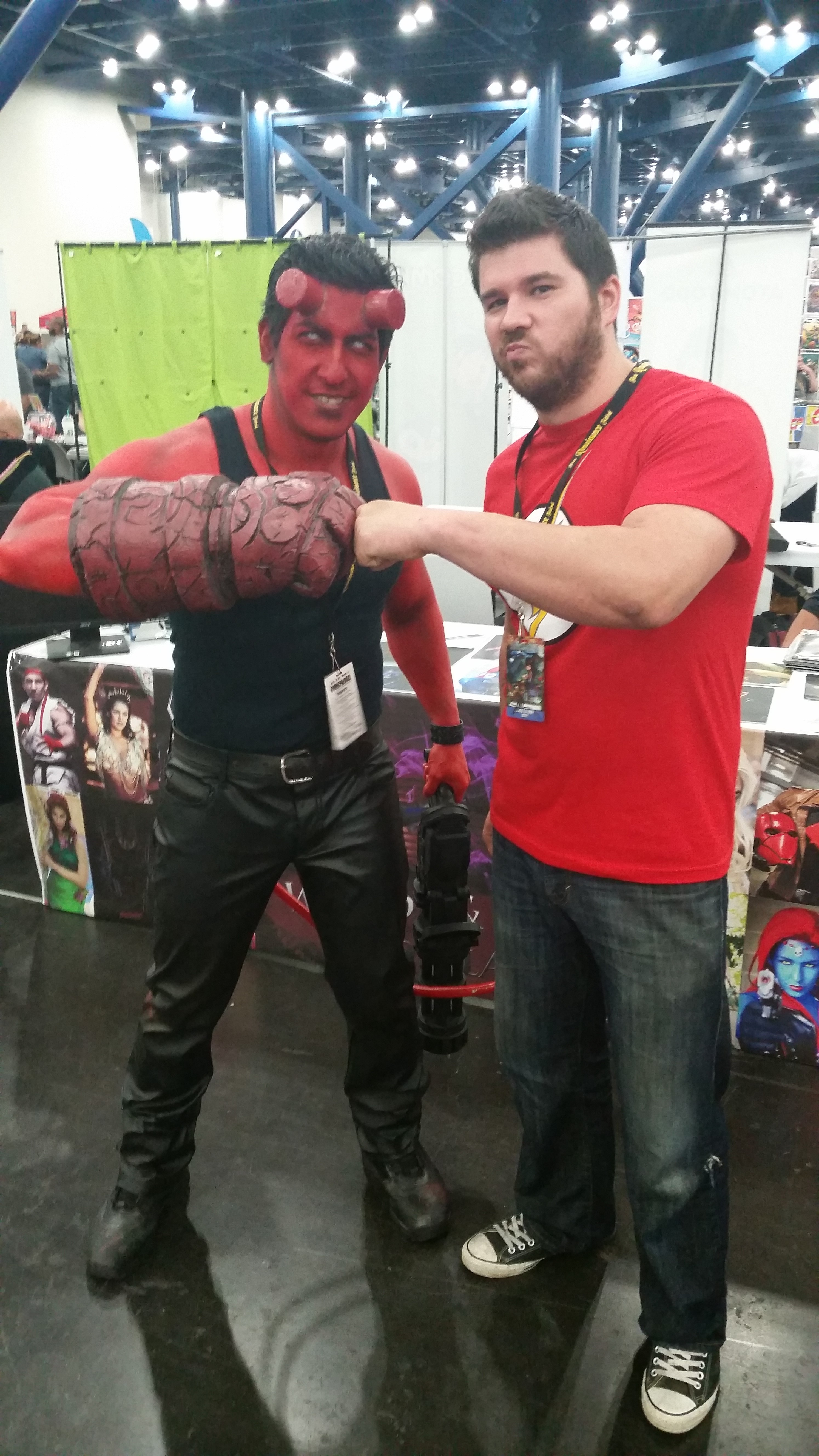 My husband Taylor posing with a Hellboy cosplayer