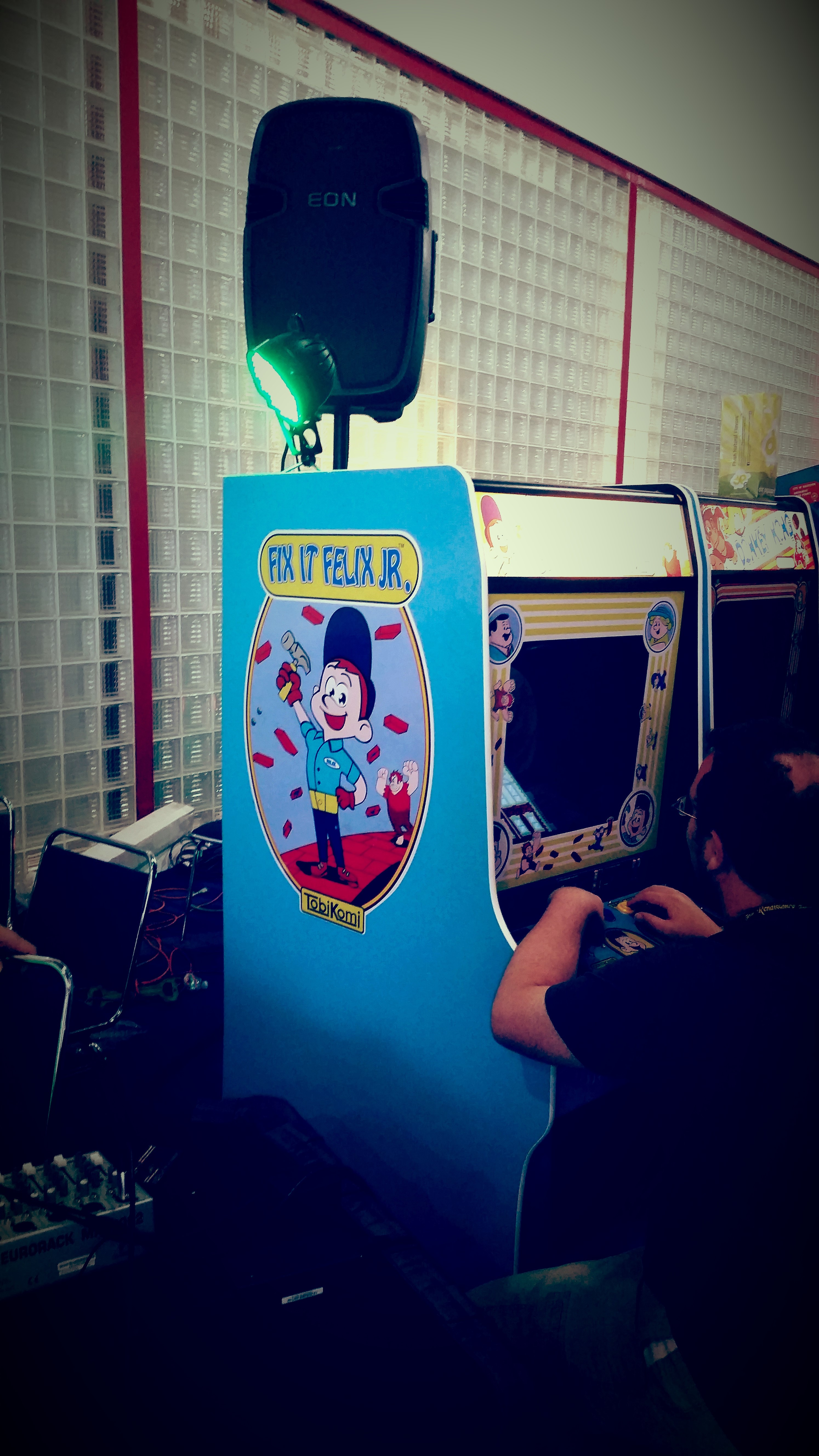 A fully functioning Fix It Felix Jr. arcade game