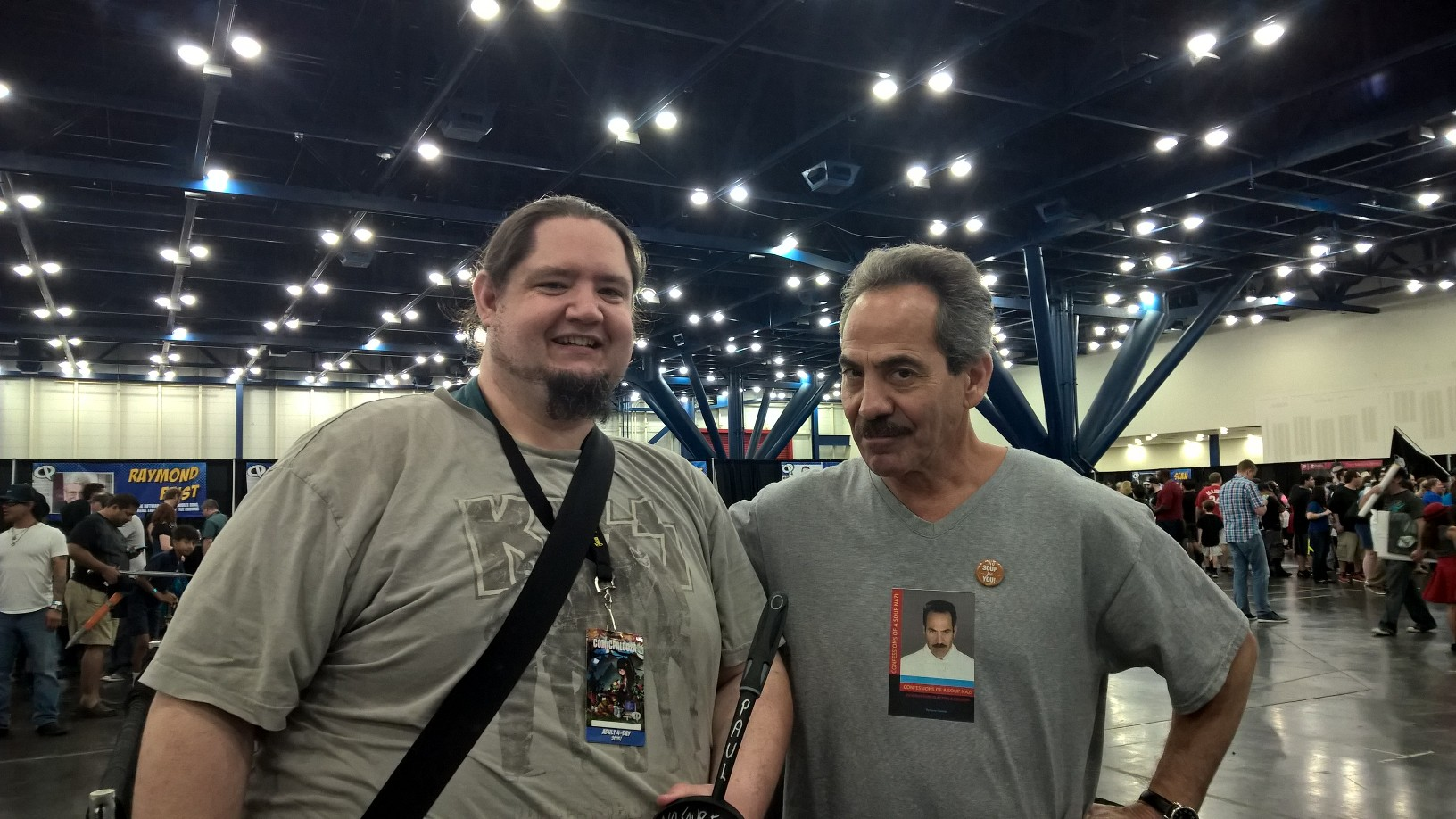 My friend Jeremy and Soup Nazi....NO SOUP FOR YOU!