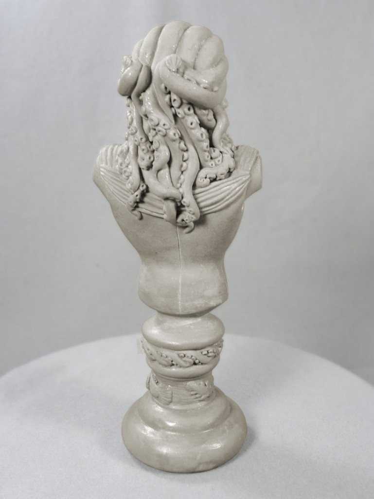 elegant tentacle hair on a sculpture bust by Sheryl Westleigh