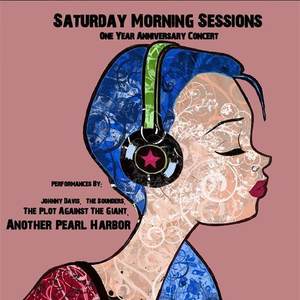 The Saturday Morning Sessions one year anniversary concert poster.