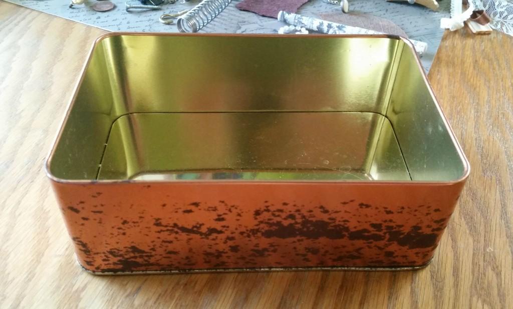 an empty metal box