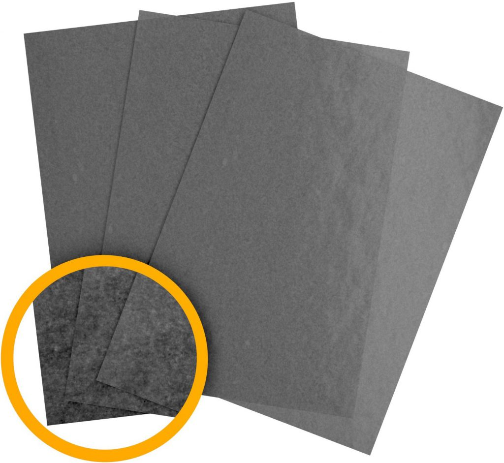 what graphite transfer paper looks like
