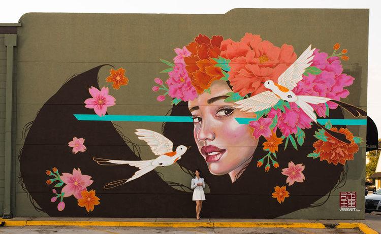 """Fortune Favors The Brave"" by artist Julie ""Juuri"" Robertson."