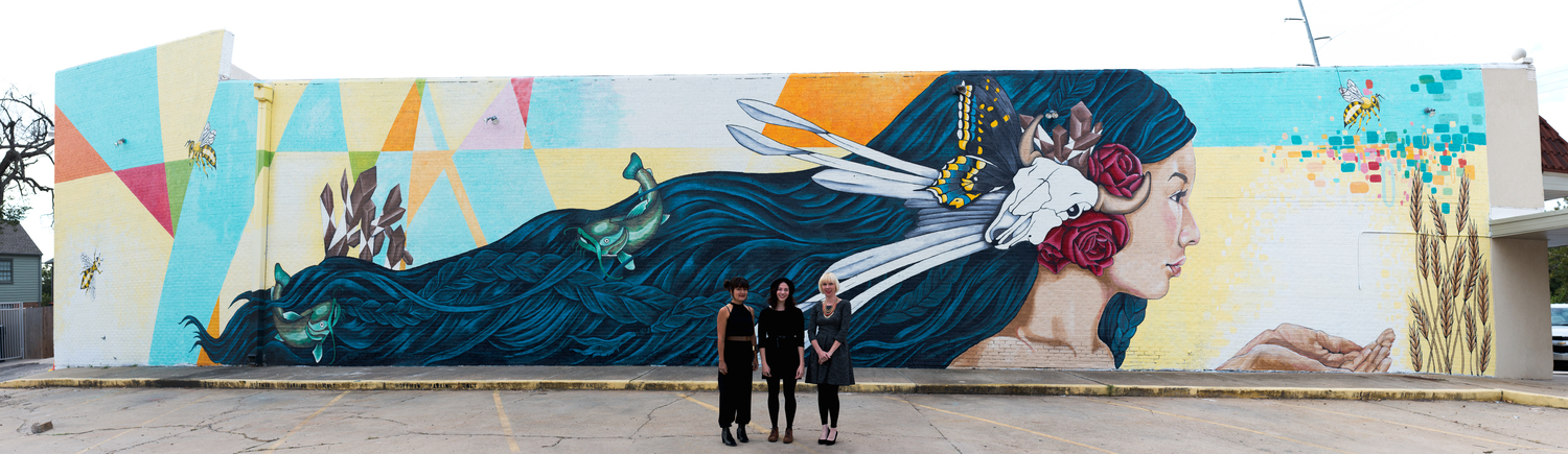 """""""Oklahoma Aiukli"""" by lead project artist Erin Cooper and collaborating artists Amanda Bradway and Lauren Miller."""