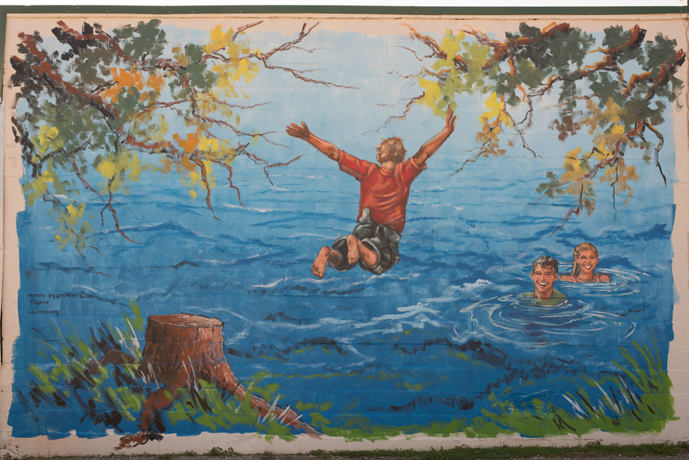 """""""Having The Time Of Their Lives"""" by artists Dr. Bob Palmer and Ms. Lisa Quishenberry."""