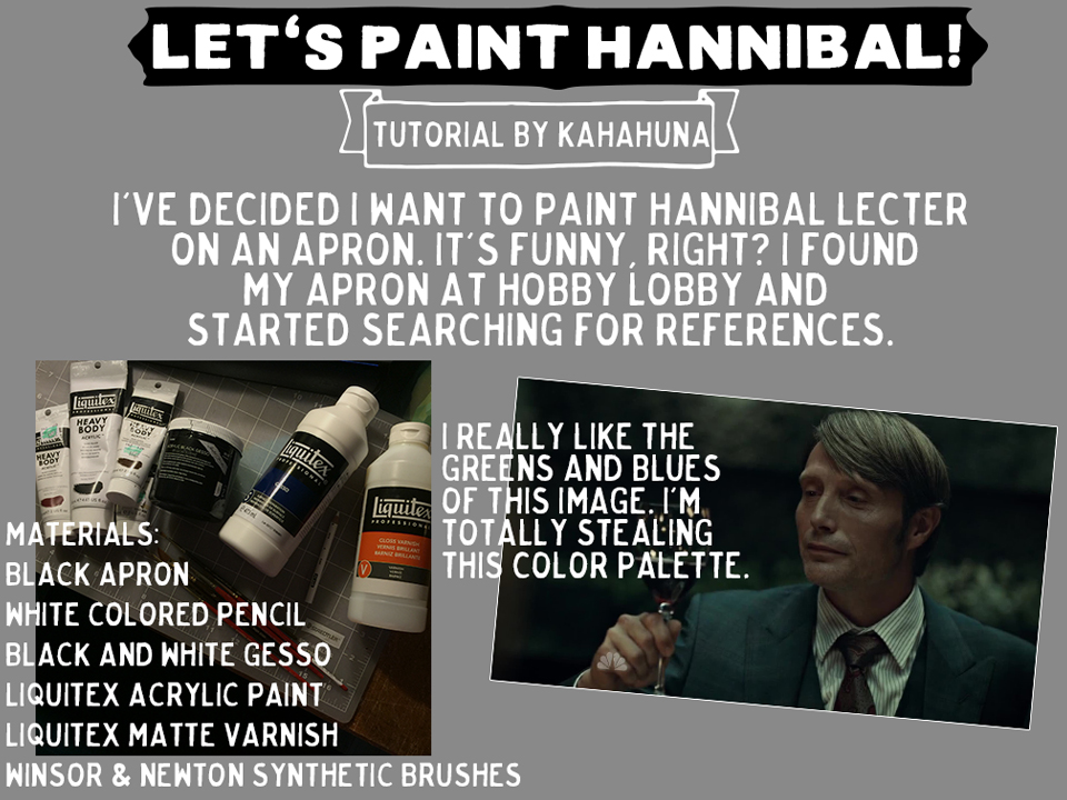 learn how to paint Hannibal Lecter from the TV show